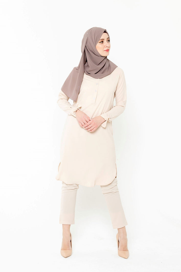 Cream and Lavender Sheer Maxi Cardigan - Clearance - Abaya, Hijabs, Jilbabs, on sale now at UrbanModesty.com