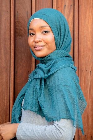 Emerald Cotton Hijab Head Scarf-Clearance - Abaya, Hijabs, Jilbabs, on sale now at UrbanModesty.com