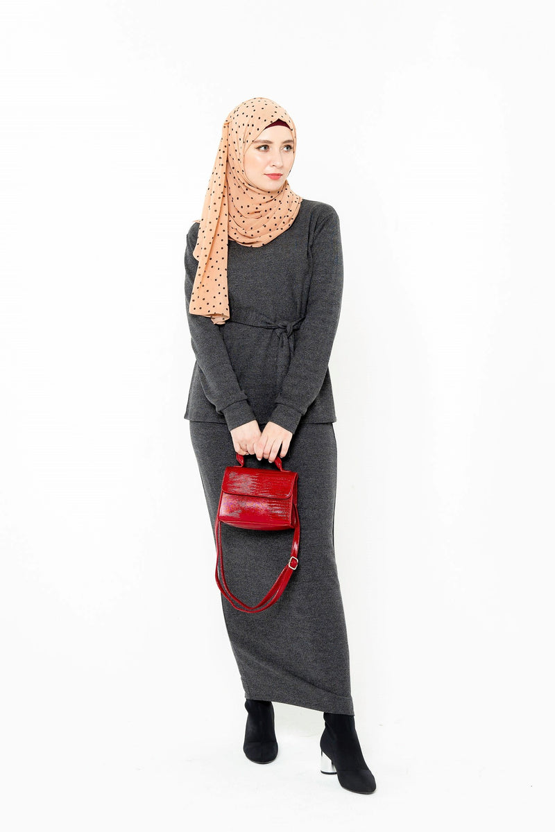Grey Open Front Abaya-Clearance - Abaya, Hijabs, Jilbabs, on sale now at UrbanModesty.com