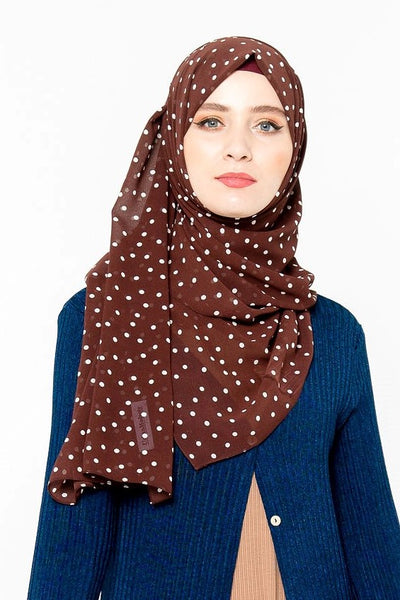 Polka Dots Chiffon Hijab (More Colors Available)