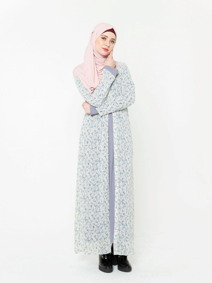 Dreamy Floral Print Sheer Maxi Cardigan-CLEARANCE