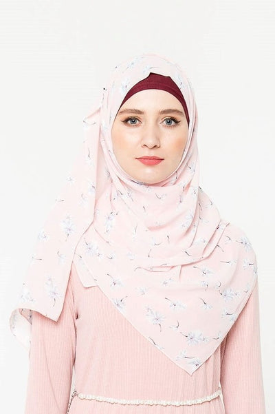 Floating Flowers Floral Chiffon Hijab