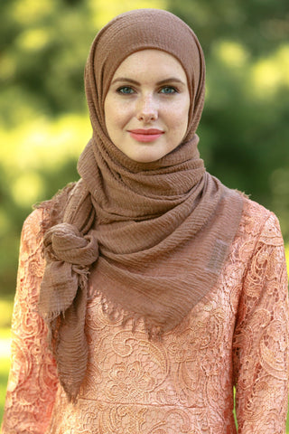 Dusty Pink Shimmer Hijab Head Scarf