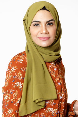True Green Chiffon Hijab - Abaya, Hijabs, Jilbabs, on sale now at UrbanModesty.com