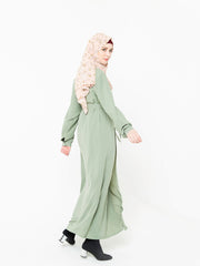 Sage Green Non Sheer Maxi Cardigan-CLEARANCE