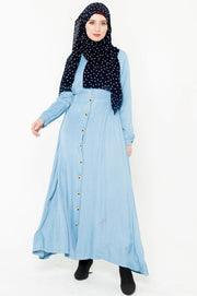 Denim Button Down Maxi Dress