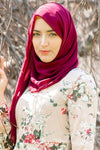 Maroon Chiffon Hijab - Abaya, Hijabs, Jilbabs, on sale now at UrbanModesty.com