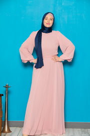 Chiffon Long Sleeve Maxi Dress