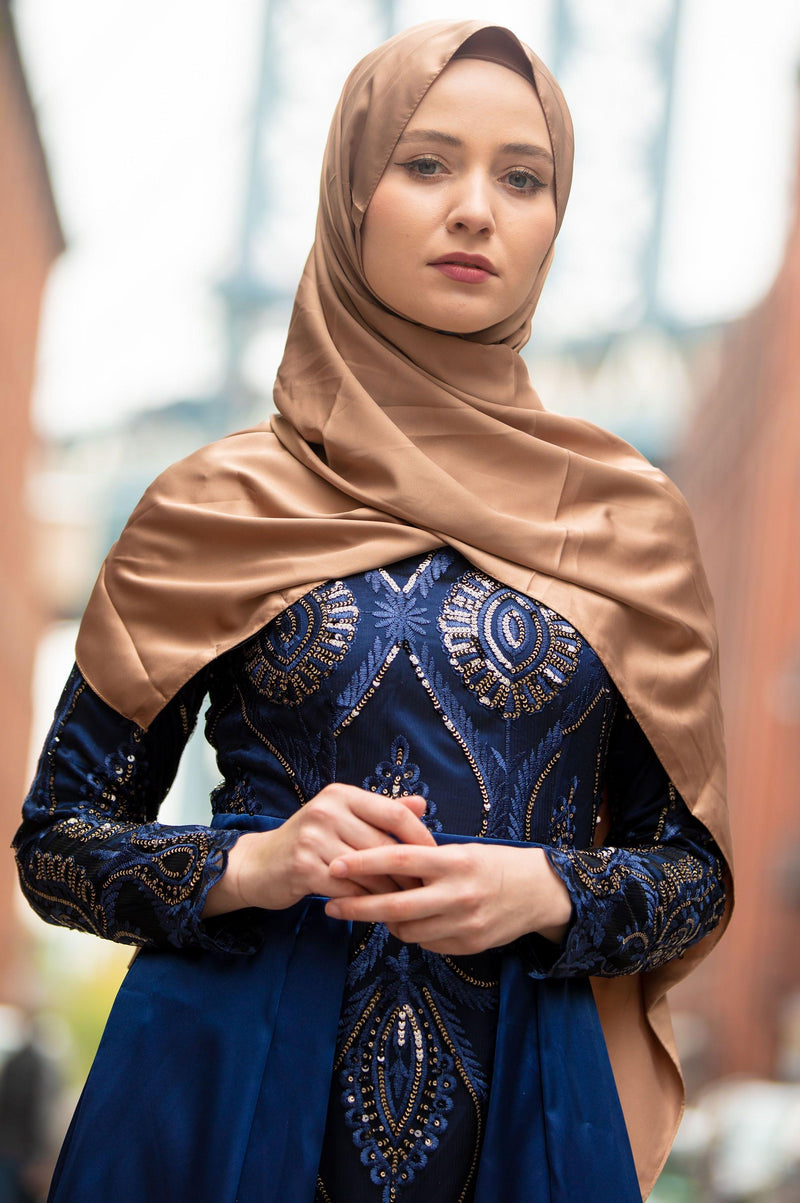 Bronze Satin Hijab
