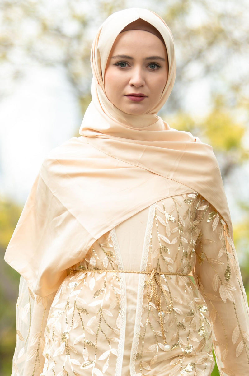 Off-White Satin Hijab