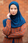 Navy Blue Square Chiffon Hijab