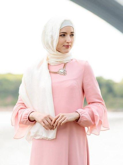 Ivory Shimmer Hijab Head Scarf - Abaya, Hijabs, Jilbabs, on sale now at UrbanModesty.com