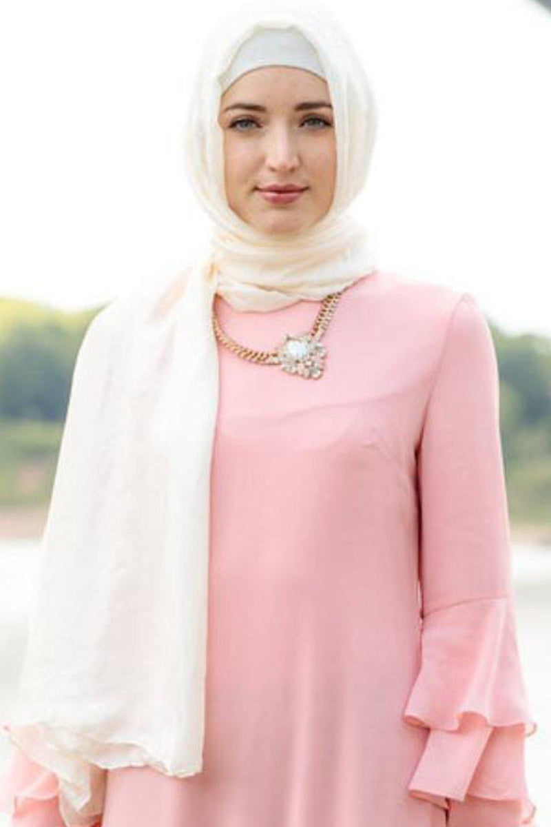 Blossom Ruffle Long Sleeve Maxi Dress - CLEARANCE - Abaya, Hijabs, Jilbabs, on sale now at UrbanModesty.com