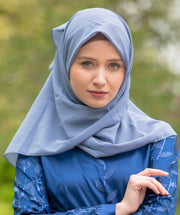 Charcoal Gray Square Chiffon Hijab