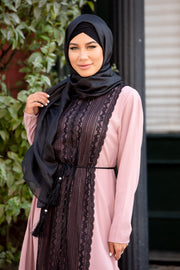 Black Shimmer Hijab Head Scarf