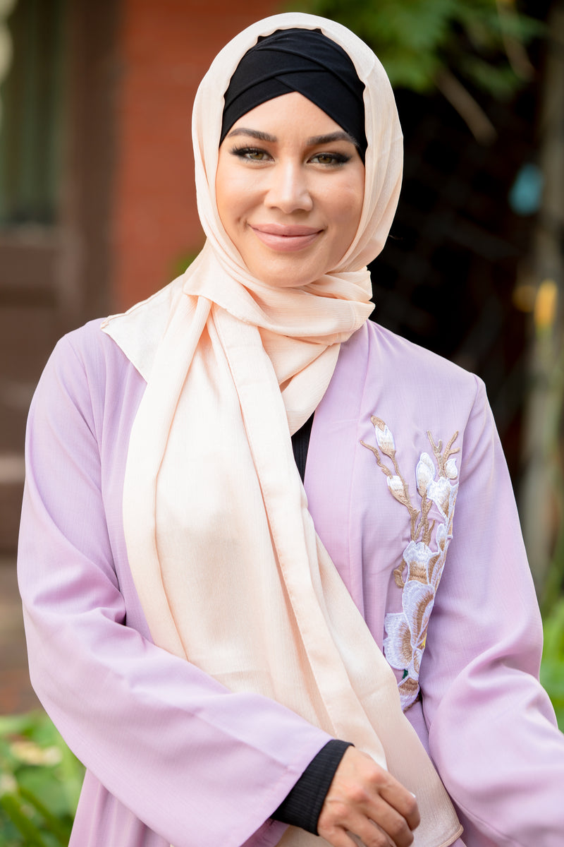 Rose Pink Shimmer Hijab Head Scarf