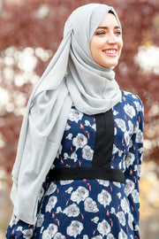Gray Chiffon Hijab - Abaya, Hijabs, Jilbabs, on sale now at UrbanModesty.com
