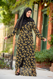 Sunflower Sheer Maxi Cardigan