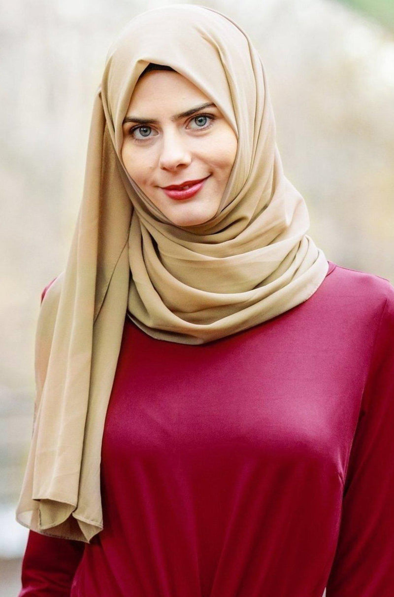 Iced Coffee Chiffon Hijab - Abaya, Hijabs, Jilbabs, on sale now at UrbanModesty.com
