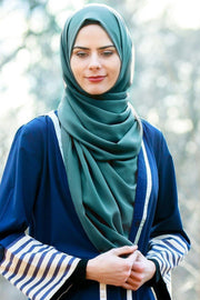 Teal Chiffon Hijab - Abaya, Hijabs, Jilbabs, on sale now at UrbanModesty.com