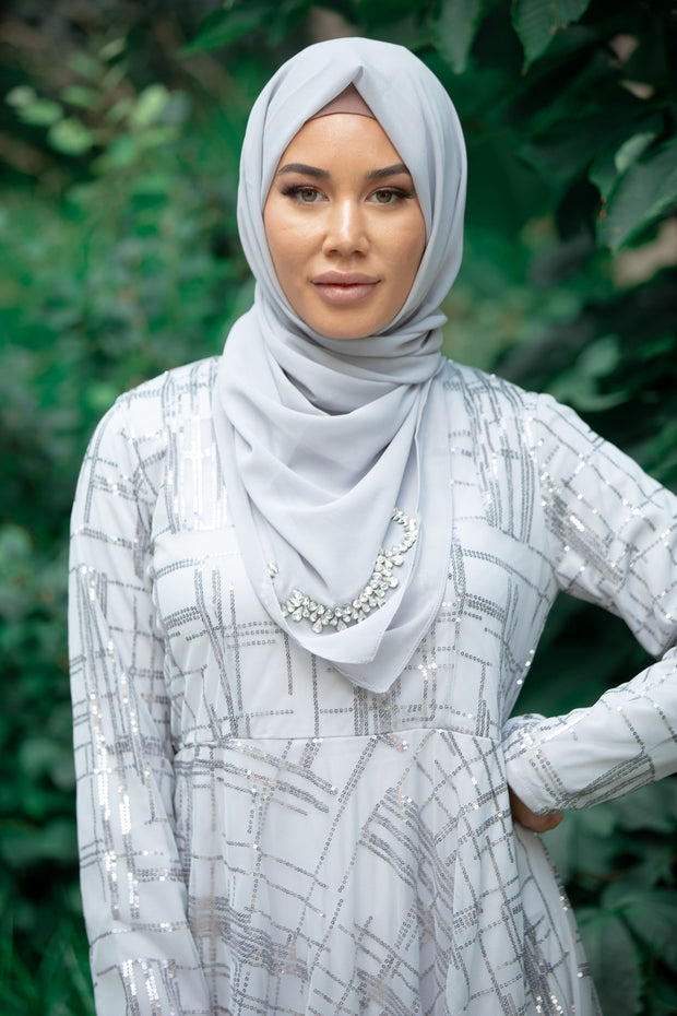 Rhinestone Jewel Chiffon Hijab (More colors available)
