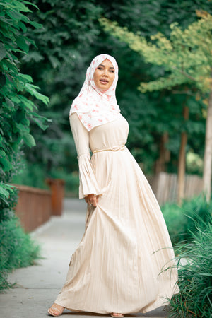 Amal Rose Long Sleeve Evening Gown - Abaya, Hijabs, Jilbabs, on sale now at UrbanModesty.com