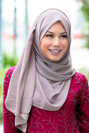 Taupe Chiffon Hijab - Abaya, Hijabs, Jilbabs, on sale now at UrbanModesty.com
