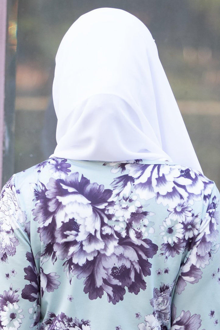 Pure White Chiffon Hijab - Abaya, Hijabs, Jilbabs, on sale now at UrbanModesty.com