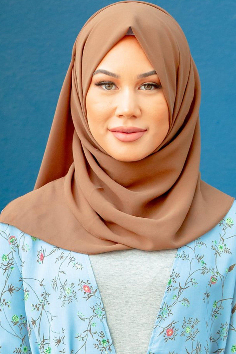 Mocha Chiffon Hijab - Abaya, Hijabs, Jilbabs, on sale now at UrbanModesty.com
