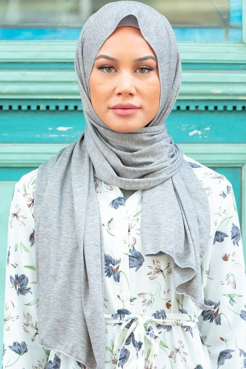 Heather Grey Jersey Hijab - Abaya, Hijabs, Jilbabs, on sale now at UrbanModesty.com