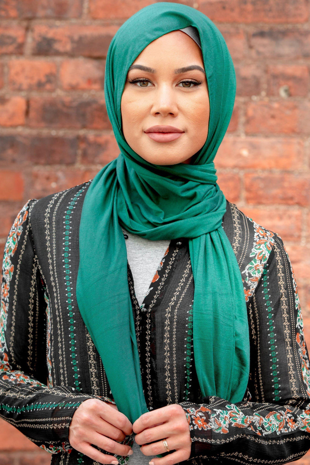 Green Jersey Hijab - Abaya, Hijabs, Jilbabs, on sale now at UrbanModesty.com