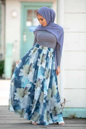 Blue Hues Maxi Dress- CLEARANCE - Abaya, Hijabs, Jilbabs, on sale now at UrbanModesty.com