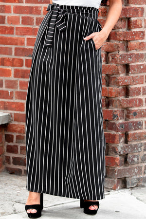 Pinned Striped Belted Maxi Skirt - Abaya, Hijabs, Jilbabs, on sale now at UrbanModesty.com