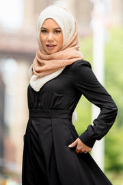Black Lattice Abaya Maxi Dress - Abaya, Hijabs, Jilbabs, on sale now at UrbanModesty.com