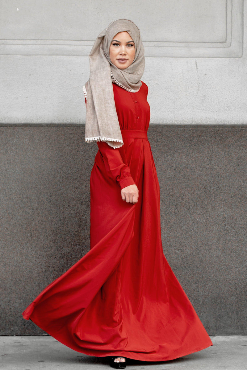 Scarlet Lattice Abaya Maxi Dress NEW - Abaya, Hijabs, Jilbabs, on sale now at UrbanModesty.com