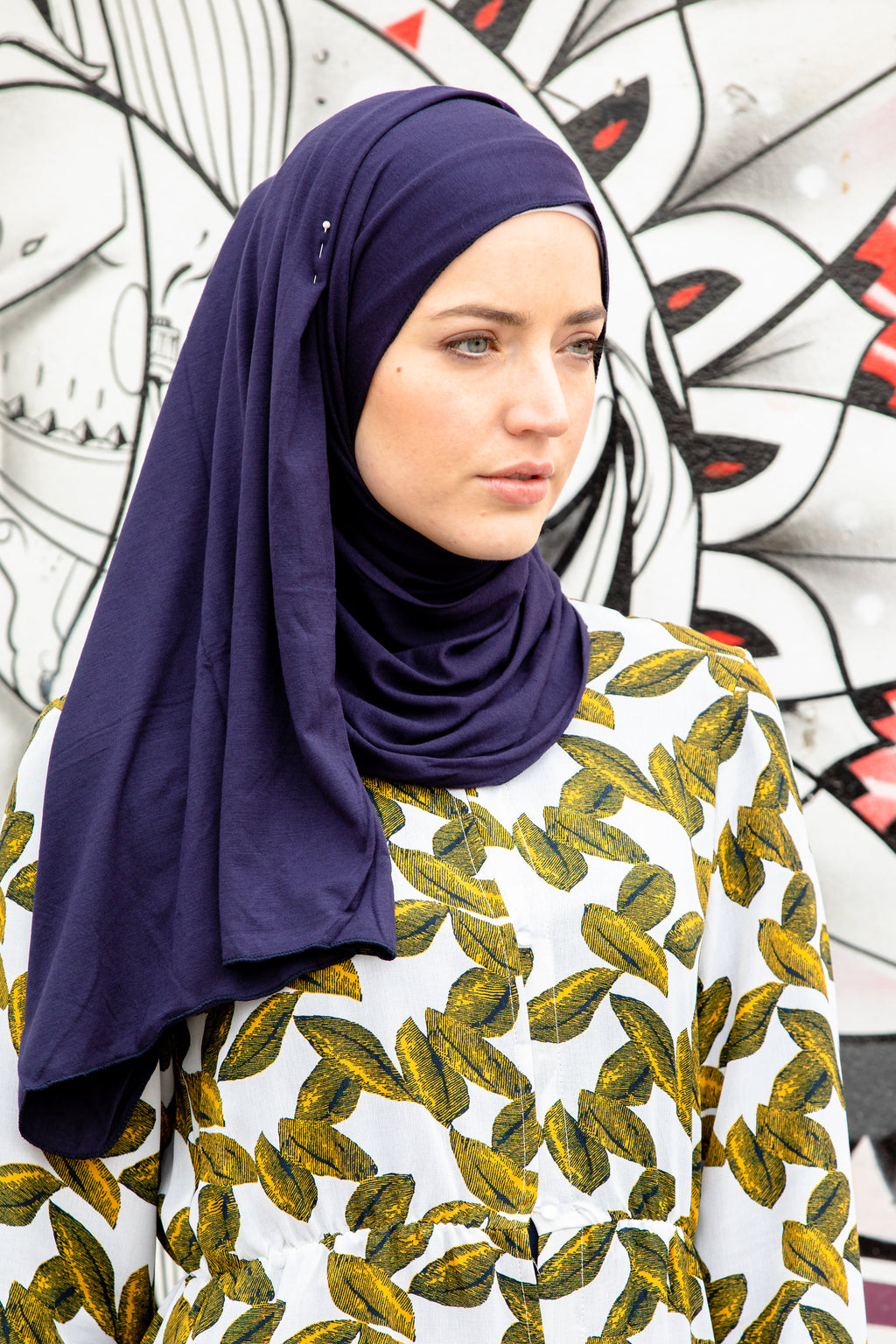 Navy Blue Jersey Hijab - Abaya, Hijabs, Jilbabs, on sale now at UrbanModesty.com
