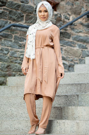 Terracotta Floral Non-Sheer Maxi Cardigan - CLEARANCE - Abaya, Hijabs, Jilbabs, on sale now at UrbanModesty.com