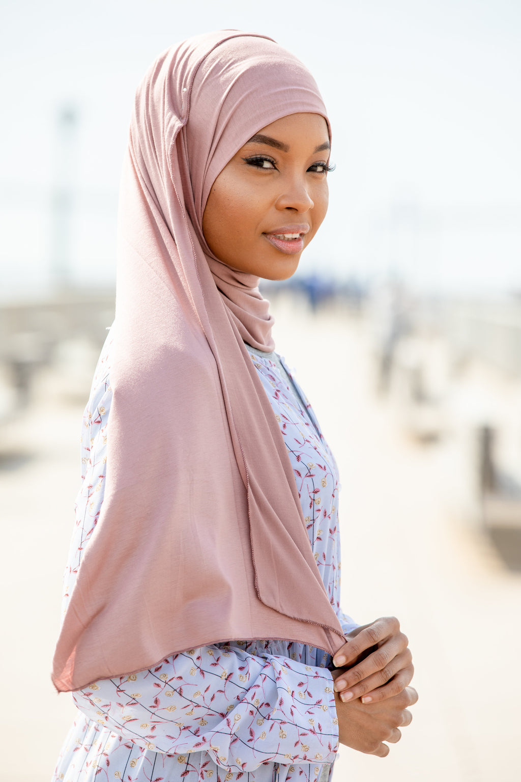 Pink Nude Jersey Hijab - Abaya, Hijabs, Jilbabs, on sale now at UrbanModesty.com