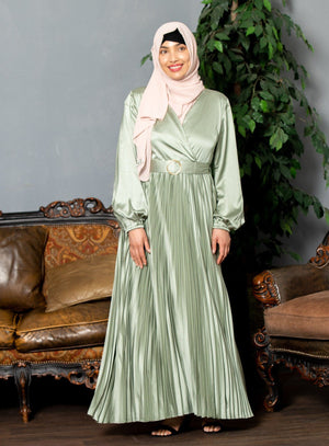 Blue Meadow Sheer Maxi Cardigan-Clearance - Abaya, Hijabs, Jilbabs, on sale now at UrbanModesty.com