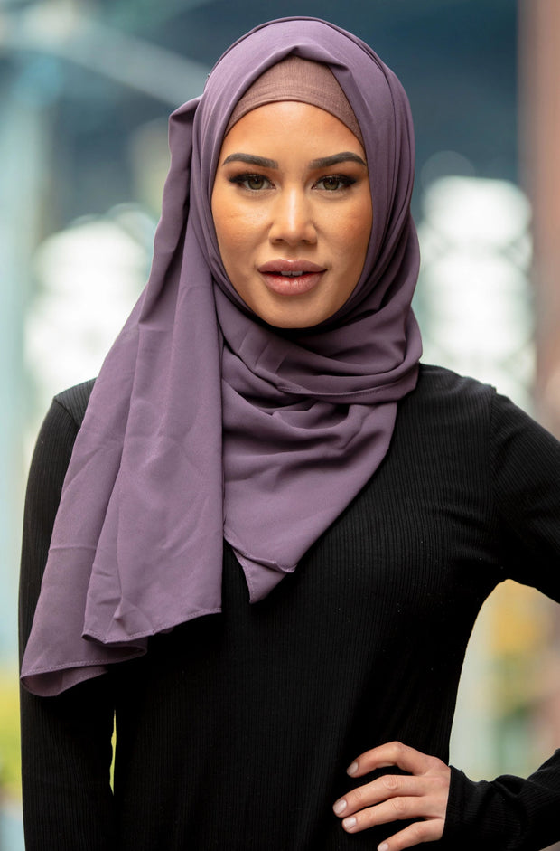 Dusty Purple Chiffon Hijab