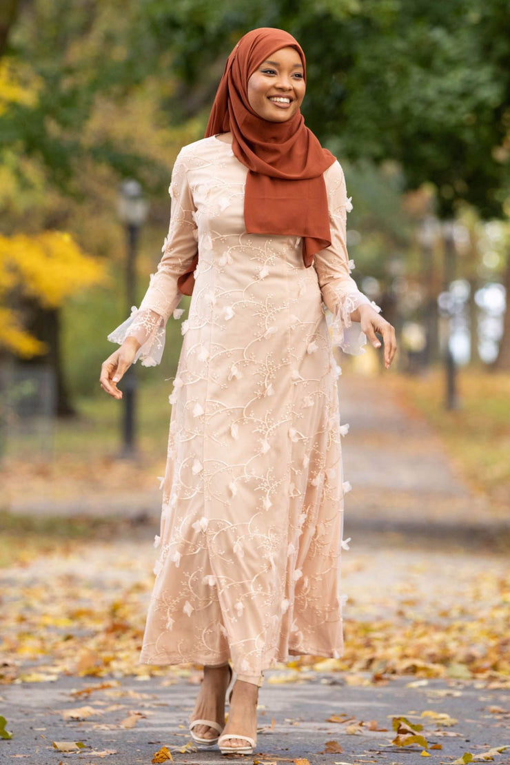 Soft Pink Embroidery Gown