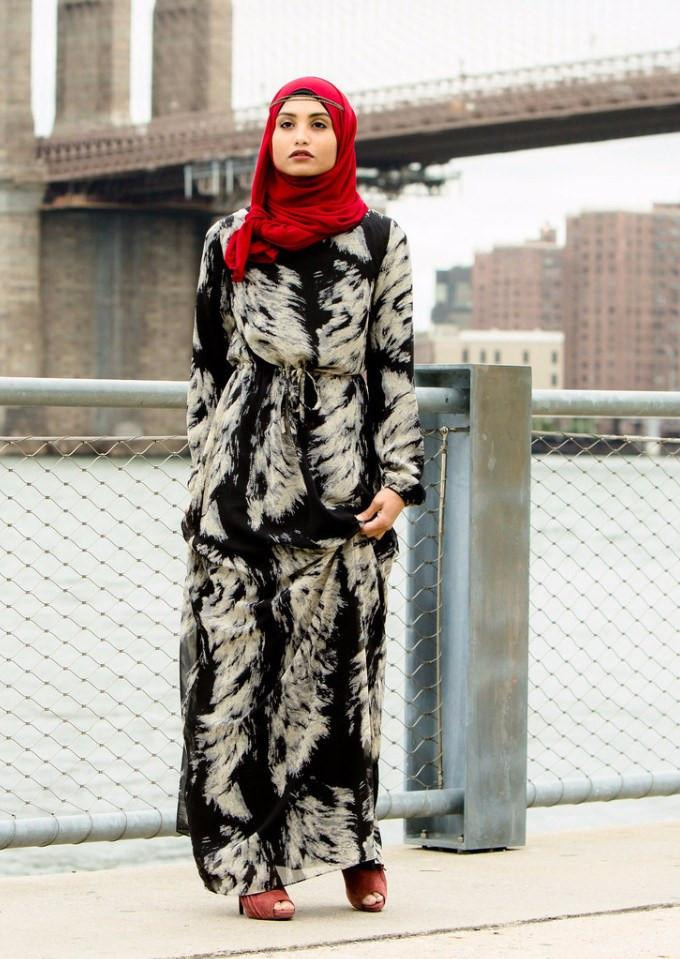 Tribal Drawstring Maxi Dress-Clearance - Abaya, Hijabs, Jilbabs, on sale now at UrbanModesty.com