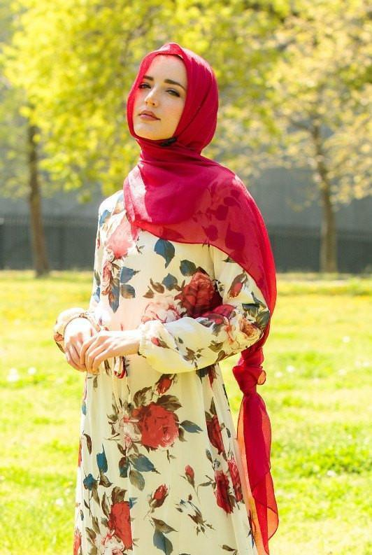 Red Shimmer Hijab Head Scarf - Abaya, Hijabs, Jilbabs, on sale now at UrbanModesty.com