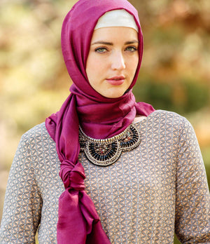 Berry Shimmer Hijab Head Scarf-Hijabs-Urban Modesty Inc.