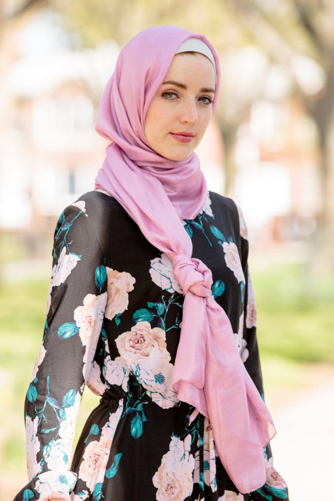 Dusty Pink Shimmer Hijab Head Scarf-Hijabs-Urban Modesty Inc.