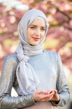 Silver Shimmer Hijab Head Scarf-Clearance - Abaya, Hijabs, Jilbabs, on sale now at UrbanModesty.com