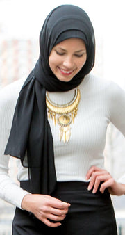 Black Chiffon Hijab - Abaya, Hijabs, Jilbabs, on sale now at UrbanModesty.com