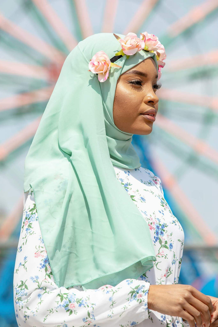 Mint Chiffon Hijab-CLEARANCE - Abaya, Hijabs, Jilbabs, on sale now at UrbanModesty.com