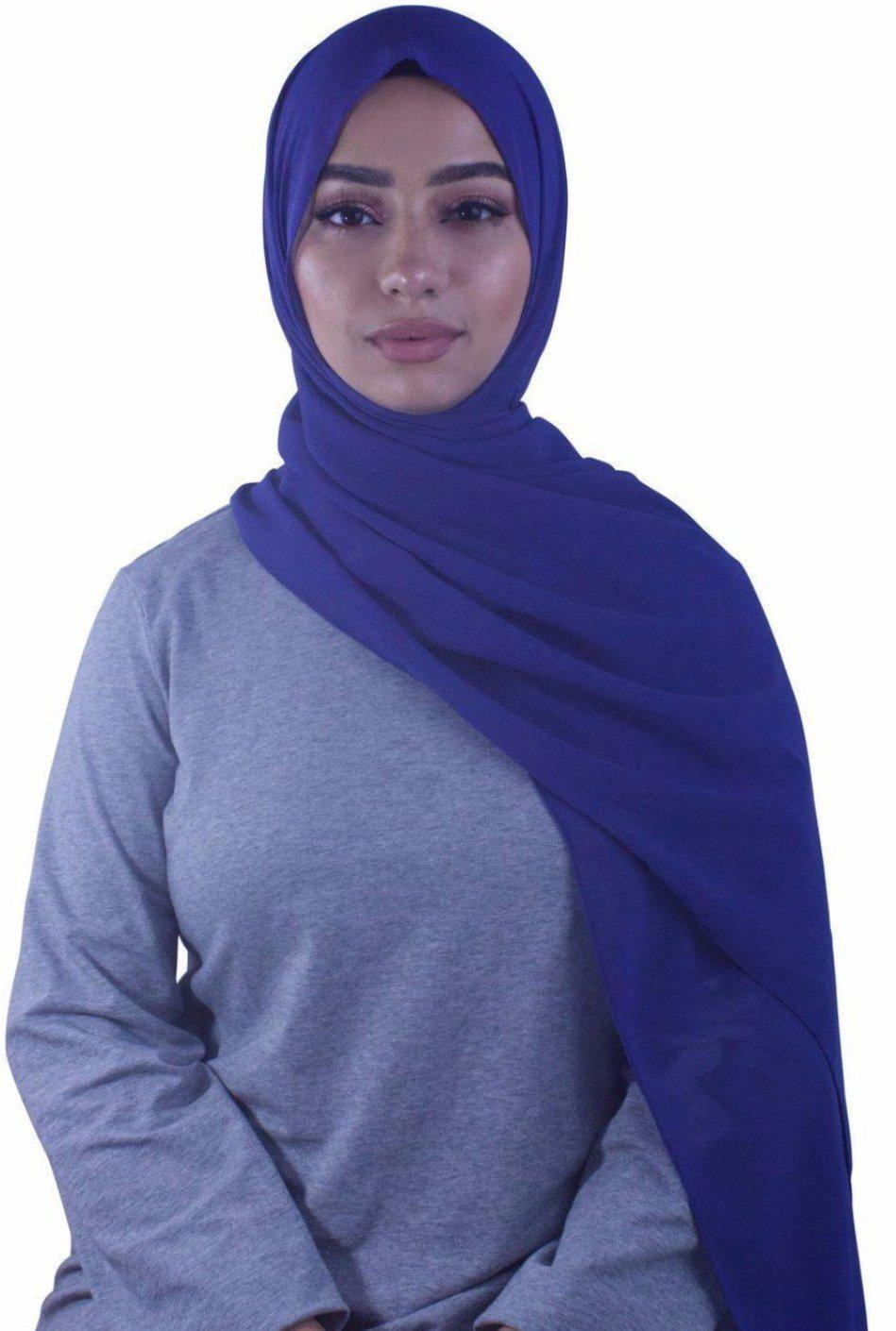 Ink Blue Chiffon Hijab - Abaya, Hijabs, Jilbabs, on sale now at UrbanModesty.com