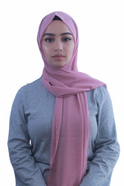Dusty Pink Chiffon Hijab - Abaya, Hijabs, Jilbabs, on sale now at UrbanModesty.com